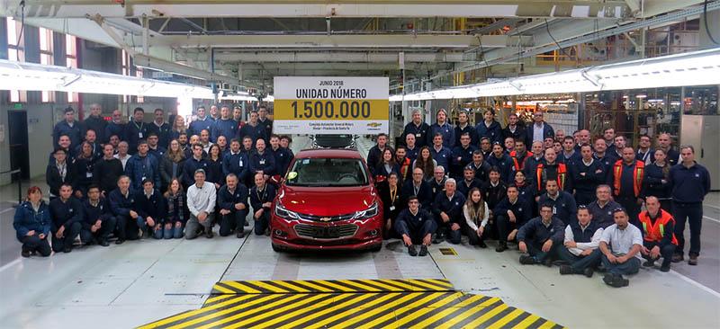 Unidad Chevrolet 1.500.000 fabricada en Argentina