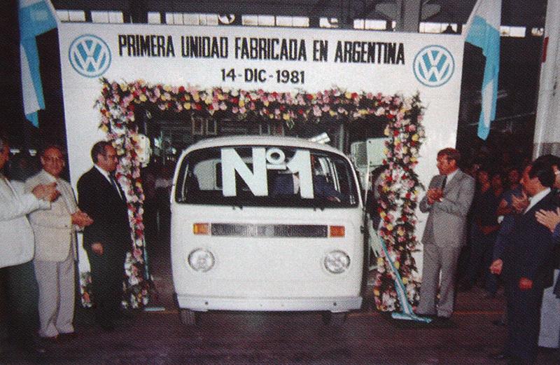 Primera unidad Volkswagen fabricada en Argentina