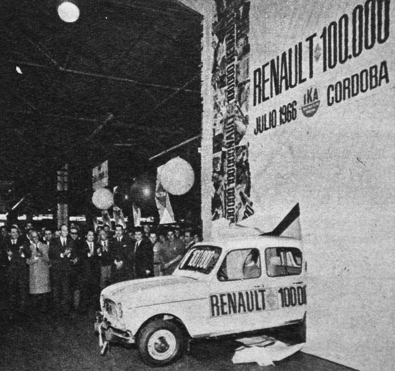 Unidad Renault 100.000 producida por IKA