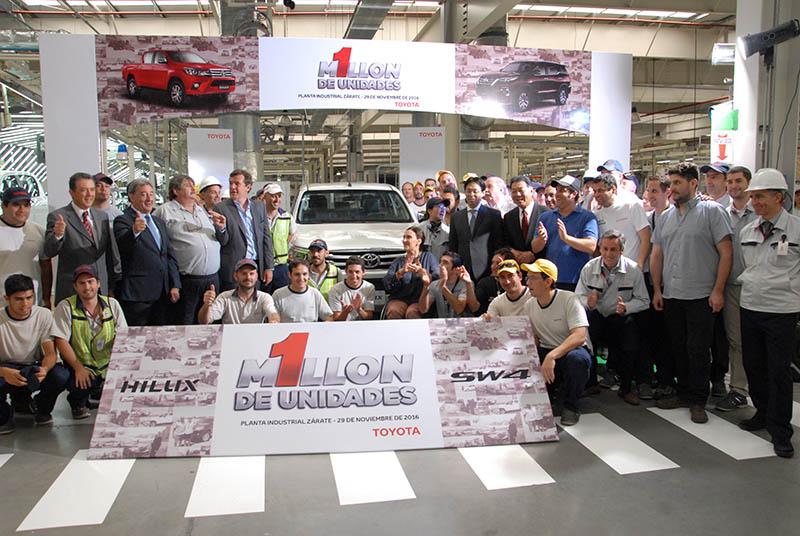 Unidad Toyota argentina un millón
