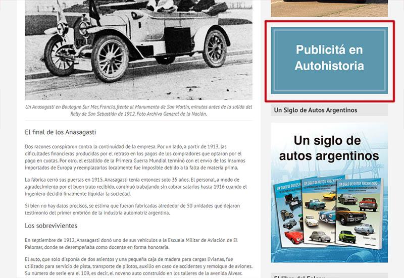 Publicidad en Autohistoria