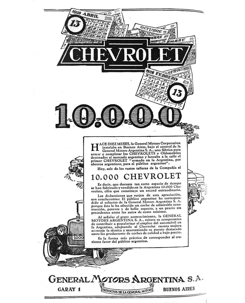 95 años del Chevrolet argentino 10.000.